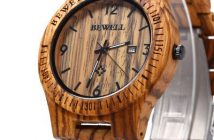 Bewell-ZS-W086B-horloge-hout-2