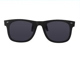 Wayfarer look clip on zonnebril